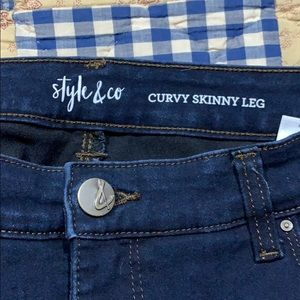 Style and Co dark denim jeans